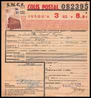 25184 - Bulletin D'expédition France Colis Postaux Fiscal N° 204 Bordeaux MUSSIDAN 15/10/1943 - Spoorwegzegels
