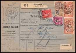 25264/ Bulletin D'expédition France Colis Postaux Fiscal Bas-Rhin Strasbourg Quai De Paris 1927 Merson N°145 - Spoorwegzegels