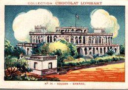 CHROMO  COLLECTION CHOCOLAT LOMBART  N° 74  SOUDAN  BAMAKO - Lombart