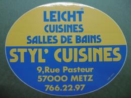 STYL'CUISINES LEICHT Cuisines Salles De Bains METZ 57 MOSELLE - Autocollant Publicité Commerce - Autocollants