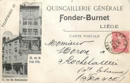 Liège - Quincaillerie Générale Fonder-Burnet - Liege