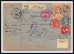 25371/ Bulletin D'expédition France Colis Postal Bel Affranchissement MERSON Mixte 1927 - Spoorwegzegels