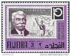 1972 FUJEIRA Michel 1460** Coubertin, J.O, Timbre Sur Timbre - Fujeira
