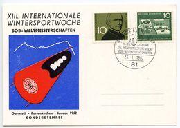 Germany, West 1962 Garmisch-Partenkirchen 13th Bobsled World Championships Card - [7] West-Duitsland