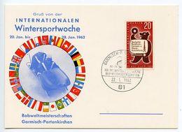 Germany, West 1962 Garmisch-Partenkirchen XIII. International Winter Sports Week Card - [7] Federal Republic