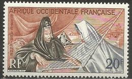 French West Africa - 1958 Ardin (harp) MNH **   Mi 101   Sc C28 - A.O.F. (1934-1959)
