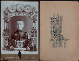 Romania - Oradea, Young Man In Uniform. 1880's CDV (160mm X 105mm), Benedek M.- Nagyvárad. Bihor. - Guerre, Militaire