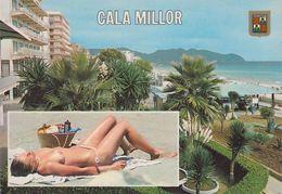 Spanien - Mallorca - Cala Millor - Partial View - Nice Girl - Nude - Pin Up - Cartes Postales