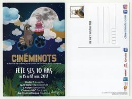 CP Pub Thème Cinéma - Cinéminots Fête Ses 10 Ans. Festival Cinéma Jeune Public - Affiches Sur Carte