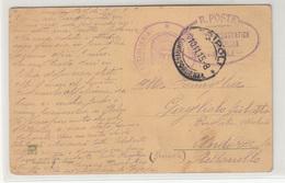 Italy Libia - Military Post 1915 Tripoli (R. Poste Servicio Aerostatica? Pmk) (baloonpost?) On Postcard B180710 - Libya