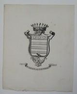 Ex-libris Armorié Français XVIIIème - De VAUVINEUX - Ex Libris