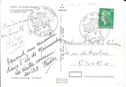 SARTHE 72  -  LE MANS  -  CACHET N° 5788  - 1972 - LES 24 HEURES 10 11 JUIN 1972 LE MANS - CP LE DEPART LANCE - Postmark Collection (Covers)