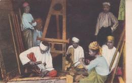 CARTOLINA - POSTCARD - MYANMAR ( BIRMANIA ) LA BIRMANIA PITTORESCA -INTAGLIATORI -  MISSIONI ESTERE - Myanmar (Burma)