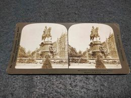 ANTIQUE STEREOSCOPIC REAL PHOTO GERMANY - MONUMENT OF KAISER WILHEIM I - COLOGNE Nº 2214 - Visionneuses Stéréoscopiques