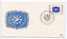 Belgium 1967 Scott 682 FDC International Tourism Year - FDC
