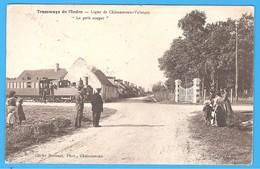 """36- TRAMWAYS De L' INDRE -LIGNE CHÂTEAUROUX / VALENÇAY """" LE PETIT SOUPER """" INDRE En BERRY LOCOMOTIVE VERS 1905 - Chateauroux"""