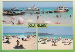 Spanien - Mallorca - Cala Millor - Beach - Glass Bottom Boat - Nice Stamp - Cartes Postales