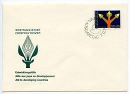 Liechtenstein 1967 Scott B24 FDC Development Assistance - FDC