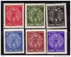Guyane  Taxe N° 22 / 31 X  Armoiries La Série Des 10 Valeurs Trace De Charnière Sinon  TB - Ohne Zuordnung