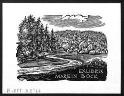 Ex-libris Illustration Marein Bock (H. Ott '66) - Ex-libris