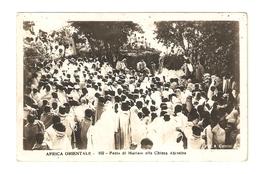 CT--02583--  AFRICA ORIENTALE - FESTA DI MARIAM ALLA CHIESA ABISSINA - DA TOBRUCH A TORINO VIAGGIATA 1939 - Cartoline