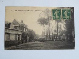 C.P.A. : 27 LE THUIT SIMER : La Pâture, Animé, Timbre En 1921 - France