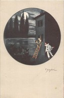 5 CP PIERROTS. 4 Sont Signées CHIOSTRI Dessinateur Italien  Et Une De 3 Personnages De Comédie Ayant Voyagé En 1906 - Cartes Postales