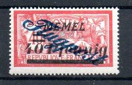 MEMEL / Poste Aérienne /  N 2 / 60 Pf Sur 40 Ct Rouge  / NEUF Avec Trace De Charnière - Memel (1920-1924)