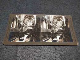 ANTIQUE STEREOSCOPIC REAL PHOTO UNITED KINGDOM THE COIR - CANTEBURY CATHEDRAL Nº2532 - Visionneuses Stéréoscopiques
