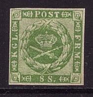 Dänemark 8 Ungebraucht Vollrandig Geprüft (21763) - 1851-63 (Frederik VII)