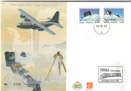 Norway 2005 Polarpost, Troll  Station In Antarctis,First Flighet Oslo-Troll 6.2.05 With Extra Cancellation 12.2.05 Cover - Norway