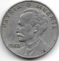 Cuba 20 Centavos 1968  Km 31 - Cuba