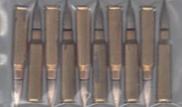 LOT DE DIX CARTOUCHES FRANCAISES 7.50X54 POUR MAS 36/51 - Militaria