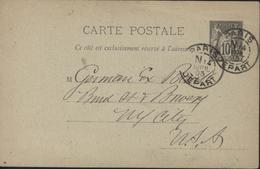 Carte Postale Entier Sage Storch G8 Repiqué Hôtel Binda 11 Rue échelle Av Opéra CAD Paris Départ Grand N Nuit 14 4 95 - Overprinter Postcards (before 1995)