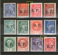 Variété Libération LYON_timbres Plus Grand-plus Petit_dans Lot De 12 Timbres */nsg - Liberation