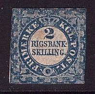 Dänemark 2 II F Ungebraucht Plattenfehler  Geprüft (21765) - 1851-63 (Frederik VII)