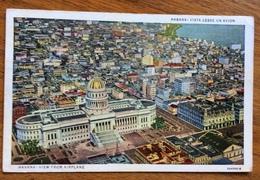 CUBA L'HAVANA  VEDUTA AEREA  TO GENOVA ITALY 5/10/48 - Cuba