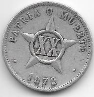 *cuba 20 Centavos 1972  Km 35.1  Vf - Cuba