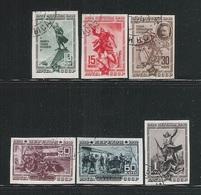 URSS - 1940 - 6 VALORI USATI  N.D.- 20° ANNIVERSARIO DELLA BATTAGLIA DI PEREKOP - IN BUONE CONDIZIONI. - Usati