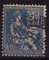 FR 185 - FRANCE N° 114 Oblitéré Variété Chiffres Clairs Type Mouchon - 1900-02 Mouchon