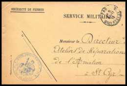42073/ Lettre Cover Aviation Militaire Centre D'aviation De Pau Pour St Syr 1915 Guerre 1914/1918 War - Poste Aérienne