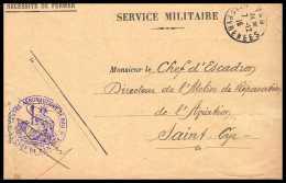 42139/ Lettre Cover Aviation Militaire Centre Aeronautique De Pau 1915 Pour St Cyr Guerre 1914/1918 War - Guerre De 1914-18