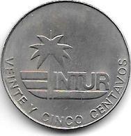 Cuba 25 Centavos 1981  Km 417  Xf+ - Cuba