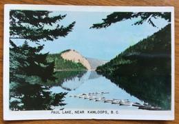 CANADA PAUL LAKE  NEAR KAMLOOPS  B.C.  PAR AVION TO PARIS  1951 - Montreal