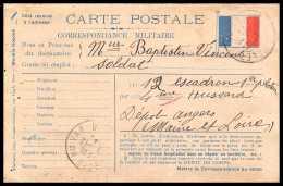 42632 Carte Postale En Franchise 1918 Drapeau à Droite La Valette Var Guerre 1914/1918 War Postcard - Poststempel (Briefe)