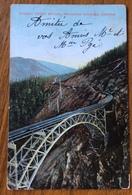 CANADA  CANADIAN ROCKIERS STONEY CREEK BRIDGE   PAR AVION TO PARIS  1951 - Montreal