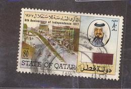 (Free Shipping*) USED STAMP - Qatar