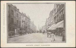 Westgate Street, Gloucester, Gloucestershire, C.1905 - Pitcher Receipt Postcard - Gloucester