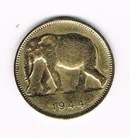 &-    BELGISCH  CONGO - CONGO  BELGE  1 FRANK  OLIFANT  1944 - Congo (Belge) & Ruanda-Urundi