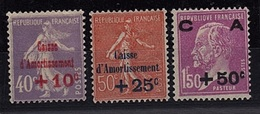 FR 202 - FRANCE N° 249/51 Neufs*  Caisse D'Amortissement - France